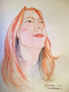 autoretrato-selfportrait-emma-pumarola-watercolor